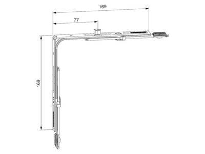 Переключатель угловой ECO без соединительных пластин 431-1050 мм, 1 VZ Изображение 2