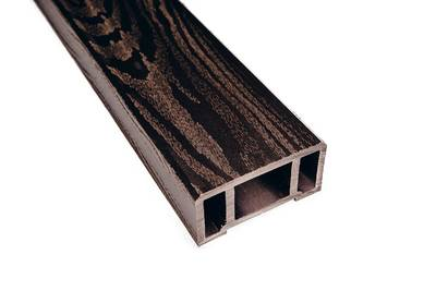 Перила ДПК (текстура дерева) венге, 44х89х3000 мм Изображение