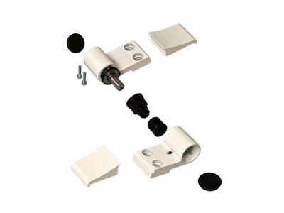 Петля Domina Classic 2-х секц анодированная, без крепления, межосевое 92 мм Изображение