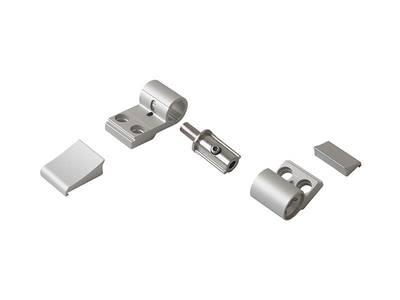 Петля для компланарных дверей Domina Classic (2-х секц., М/О=62.5 мм, серебро анодированное) Изображение 3