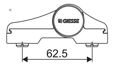 [ПОД ЗАКАЗ] Петля для компланарных дверей DOMINA HP NEW (2-х секц., М/О=62.5 мм, чёрный) Изображение 2
