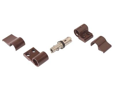 Петля DOMINA HP NEW 2-х секционная, коричневая, межосевое 62,5 мм, без крепления Изображение 4