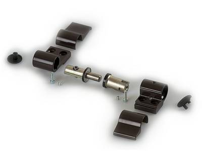Петля DOMINA HP NEW 2-х секционная, коричневая, межосевое 62,5 мм, без крепления Изображение