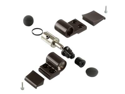 Петля DOMINA Classic дверная Giesse 2-х секционная, без крепления, м/о 62,5 мм, коричневая RAL8019, 06170640 Изображение