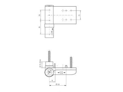 Петля Maxbar KT-SN наплав 15-20мм, коричневая Изображение 3