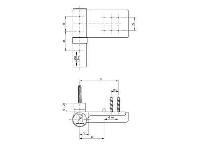 Петля Maxbar KT-V наплав 15-20мм, бронза Изображение 3