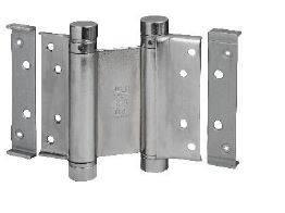 Петля барная 100 мм. для деревянных дверей до 34 кг., хромированная сталь Изображение