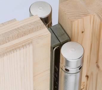 Петля барная 100 мм. для деревянных дверей до 34 кг., хромированная сталь Изображение 2