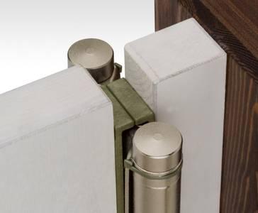 Петля барная 100 мм. для деревянных дверей до 34 кг., хромированная сталь Изображение 3