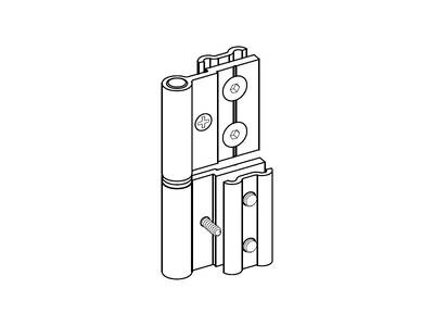 Петля для алюминиевой двери ALUTECH-ALT111 (RAL9006) Изображение