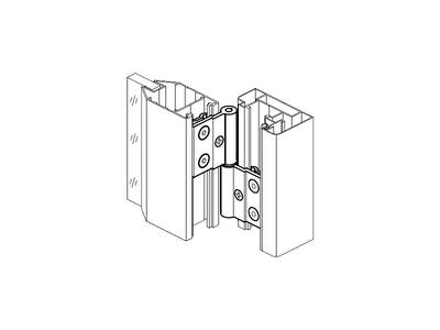 Петля для алюминиевой двери ALUTECH-ALT111 (RAL9006) Изображение 2