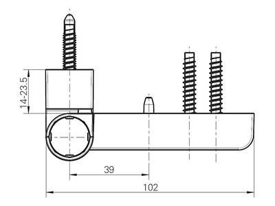 Петля дверная Roto Solid 150 P (110 кг), 17-20,5 мм, белый Изображение 4