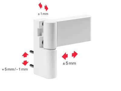 Петля дверная Roto Solid 150 P (110 кг), 17-20,5 мм, белый Изображение 6