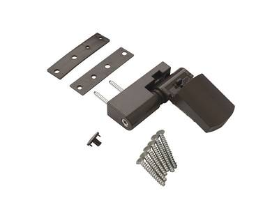Петля дверная AT23 для дверей массой до 80 кг с высотой наплава 16.5-20 (24.5) мм цвет Коричневый RAL8019 Изображение 3