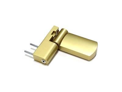Петля дверная AT23 для дверей массой до 80 кг с высотой наплава 16.5-20 (24.5) мм цвет Золото F3 Изображение