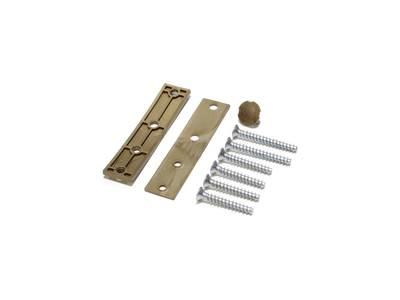 Петля дверная AT27 для дверей массой до 120 кг с высотой наплава 16.5-20 (24.5) мм  Бронза F4 Изображение 2