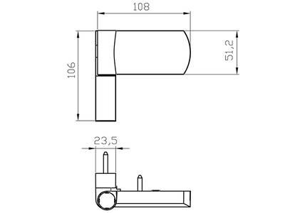 Петля дверная AT27 для дверей массой до 120 кг с высотой наплава 16.5-20 (24.5) мм, белый Изображение 2