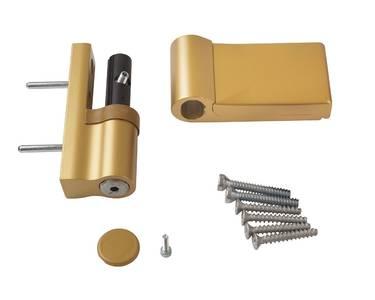 Петля дверная AT DHV  для дверей массой до 120 кг с высотой наплава 15-20  мм цвет Золото F3 Изображение 2