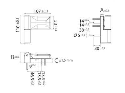 Петля дверная ELEMENTIS серия IQ-Plus, белая 16-19 mm Изображение 3
