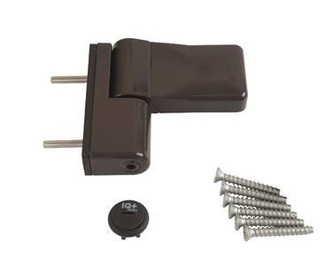 Петля дверная ELEMENTIS серия IQ Mini 16-19 мм, Коричневый RAL8019 Изображение 3