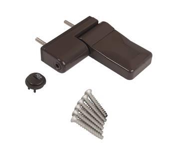 Петля дверная ELEMENTIS серия IQ Mini 16-19 мм, Коричневый RAL8019 Изображение 2
