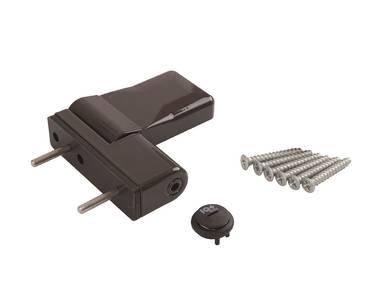 Петля дверная ELEMENTIS серия IQ Mini 16-19 мм, Коричневый RAL8019 Изображение