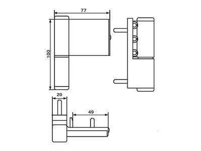Петля дверная Elementis Compact, коричневая Изображение 4