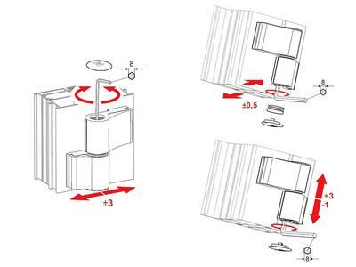 Петля дверная 2-х секционная Albrio (М/О=61 мм, без креплений, серая) Изображение 3