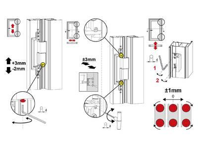 Петля дверная скрытая C.H.I.C., серебр. анодир., 00750020 Изображение 5