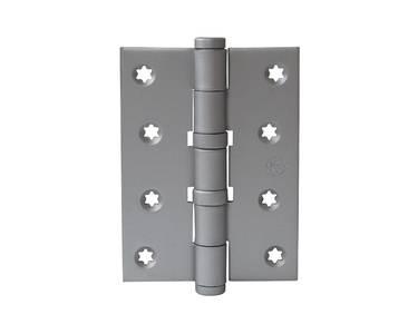 Петля карточная, универсальная 101х76х3 мм для дверей до 65 кг, плоская пешка, хром матовый Изображение