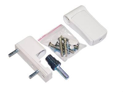 Петля регулируемая дверная VHS 3-D цинк 90 мм 9016 Изображение