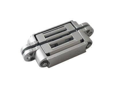 Петля скрытая, 3D, универсальная, 120x23 мм, 60 кг, цамак, серебро матовое Изображение 5