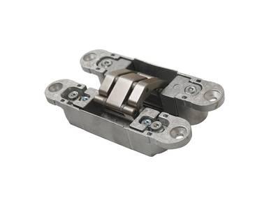 Петля скрытая, 3D, универсальная, 120x23 мм, 60 кг, корпус без покрытия  шарнирная часть никель матовый Изображение 2