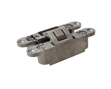 Петля скрытая, 3D, универсальная, 120x23 мм, 60 кг, корпус без покрытия  шарнирная часть серебро матовое Изображение 4
