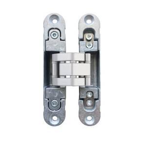 Петля скрытая, 3D, универсальная, 120x23 мм, 60 кг, корпус без покрытия  шарнирная часть серебро матовое Изображение 8