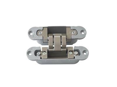 Петля скрытая, 3D, универсальная, 120x30 мм, 40 кг, цамак/нейлон, никель матовый Изображение 3