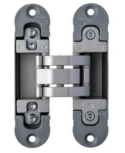 Петля скрытая, 3D, универсальная, 120x30 мм, 40 кг, цамак/нейлон, серебро матовое Изображение 7