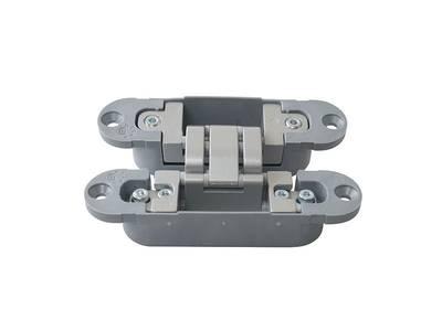 Петля скрытая, 3D, универсальная, 120x30 мм, 40 кг, цамак/нейлон, серебро матовое Изображение 3