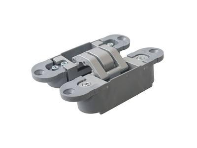 Петля скрытая, 3D, универсальная, 120x30 мм, 40 кг, цамак/нейлон, серебро матовое Изображение 4