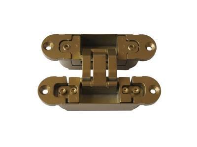 Петля скрытая, 3D, универсальная, 120x30 мм, 60 кг, цамак, специальная бронза Изображение 4