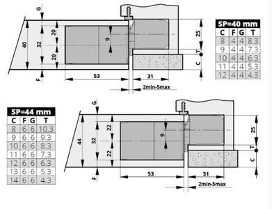 Петля скрытая для компланарных дверей, универсальная, 3D, 130x32/25 мм, 60 кг, цамак и алюминий, с 4 накладками и 4 винтами для крепления накладок, никель матовый Изображение 4