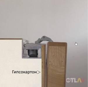Петля скрытая для компланарных дверей, универсальная, 3D, 130x32/25 мм, 60 кг, цамак и алюминий, с 4 накладками и 4 винтами для крепления накладок, серебро матовое Изображение 10