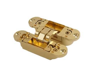 Петля скрытая универсальная Otlav Invisacta 3D (120x30 мм, 60 кг, золото полированное) Изображение 3