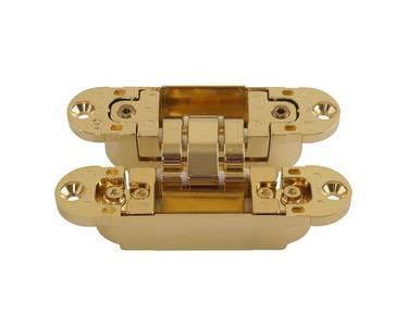 Петля скрытая универсальная Otlav Invisacta 3D (120x30 мм, 60 кг, золото полированное) Изображение 4