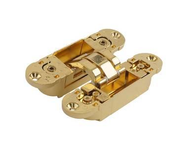 Петля скрытая универсальная Otlav Invisacta 3D (120x30 мм, 60 кг, золото полированное) Изображение 5