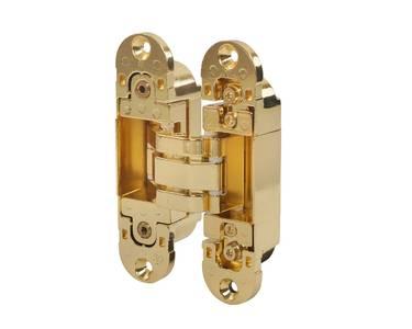 Петля скрытая универсальная Otlav Invisacta 3D (120x30 мм, 60 кг, золото полированное) Изображение
