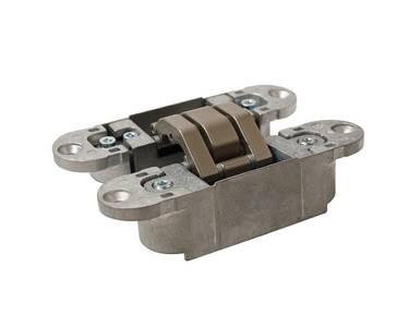 Петля скрытая, универсальная, 3D, 120x30 мм, 60 кг, корпус без покрытия шарнирная часть никель матовый Изображение 4