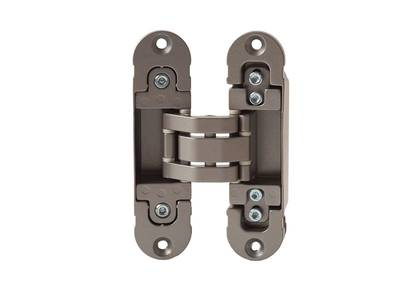 Петля скрытая, универсальная, 3D, 120x30 мм, 80 кг, цамак/алюминий, никель матовый Изображение 3