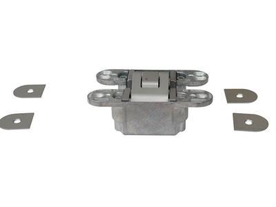 Петля скрытая, универсальная, 3D, 60 кг, цамак, хром матовый Изображение 3