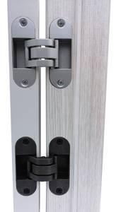 Скрытая петля универсальная нерегул. OTLAV INVISACTA 90x30 мм серебро матовое Изображение 4